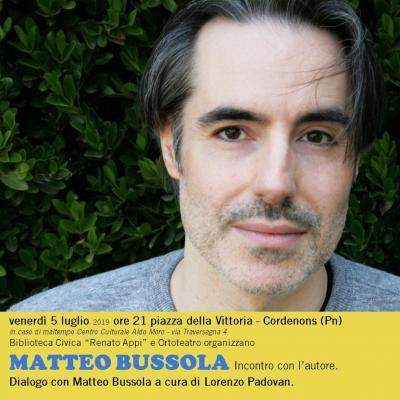 Incontro con Matteo Bussola - Piazza della Vittoria - Cordenons