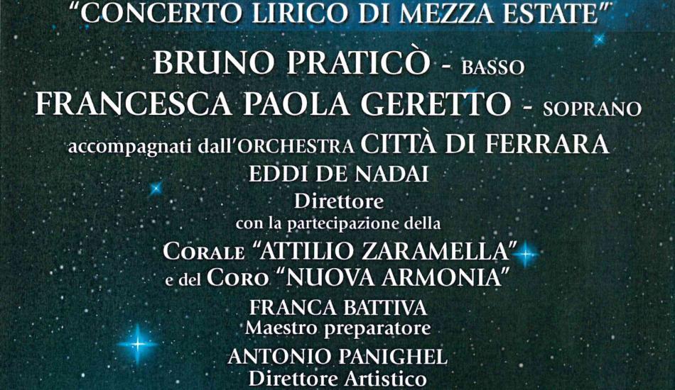 Emozioni sotto le stelle, concerto lirico di mezza estate - Piazza Pio X - San Biagio di Callalta